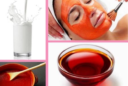 Áp dụng phương pháp đắp mặt nạ sữa tươi và dầu gấc sẽ giúp da trắng lên, mờ nám, đồng thời da mịn màng và căng bóng hơn.