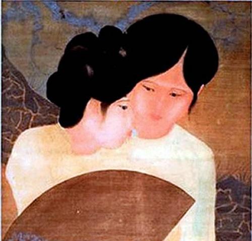 Tác phẩm Đôi bạn của họa sĩ Nguyễn Tường Lân