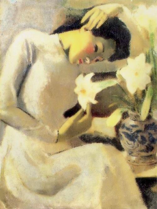 Tác phẩm Thiếu nữ bên hoa huệ của họa sĩ Tô Ngọc Vân