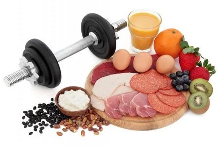 Chế độ ăn uống chiếm một phần quan trọng trong quá trình tập luyện